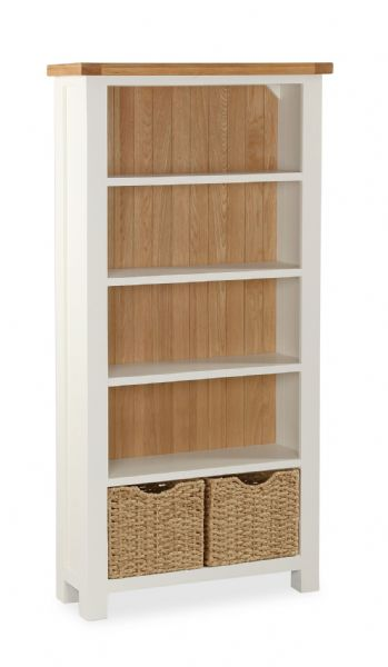 Country Large bookcase with Baskets